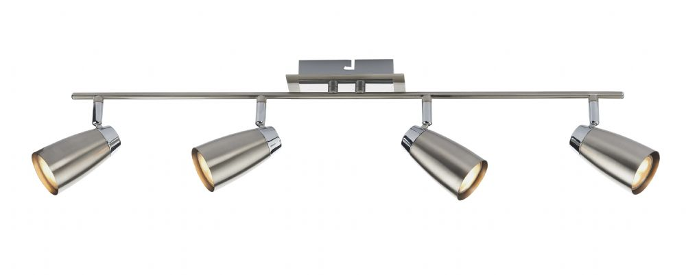 0.2) Loft 4lt Low Energy Bar Satin / Polished Chrome  (Class 2 Double Insulated) BXLOF8446-17